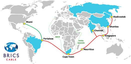 "The BRICS ""Independent Internet"" Cable. In Defiance of the ""US-Centric Internet"" 